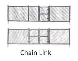 Chain Link Fence 8pcs Ho Scale Woodland Scenics