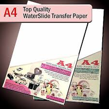 Water Slide Decals Waterslide Transfer Paper A4 Inkjet Clear Or White Lot Ebay