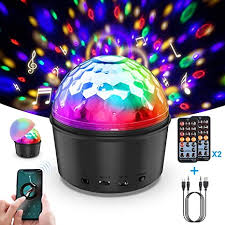 Disco Ball Miuko Disco Lights Sound Activated Party Lights With Remote Control 9 Color Dj Lights Wireless Phone Connection Led Stage Light 4w For Kids Bedroom Dance Parties Birthday Bar Club
