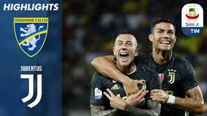 Frosinone 0-2 Juventus | Late Ronaldo & Bernardeschi Goals In ...