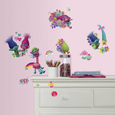Roommates Trolls Peel And Stick Wall Decals Multicolor Amazon Com