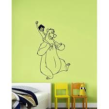 Mowgli And Baloo Vinyl Sticker Decal Disney The Jungle Book Art Cartoon Decorations For Home Kids Boys Room Nursery Wall Decor Mg5 Walmart Com Walmart Com