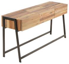 modern salvaged boat wood console table