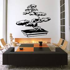 Bonsai Tree Wall Decal Sticker Vinyl Decor Mural Bedroom Kitchen Art Zen Japan Free Shipping Wall Decals Stickers Decoration Muraletree Wall Decal Aliexpress
