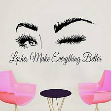 Amazon Com Eyelash Decals Eyelashes Wall Decal Window Sticker Beauty Salon Woman Face Lashes Eyebrows Brows Handmade 2921 Handmade