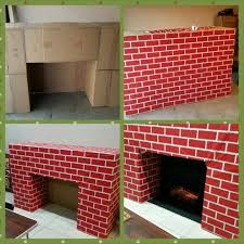 fireplace made from cardboard boxes