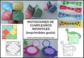 Invitaciones De Cumpleanos Infantiles Imprimibles Gratis La