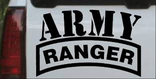 Army Ranger Car Or Truck Window Decal Sticker Or Wall Art Decalsrock