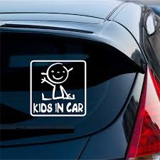 Kids In Car Decal Sticker Car Decals Baby On Board
