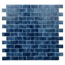 glass mosaic tile in dark blue