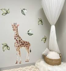 Ginger Monkey How Amazing Does Our Giraffe Wall Decal Look Teamed Up With A Few Leaves From Our Individual Leaf Pack Such A Cute Combo See Videos In Stories For More