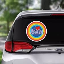 Nhs Car Stickers Thank You Rainbow Wall Window Car Shop Decal Waterproof Vinyl Signs Home Vehicle 4 Sheets Cartoon Decor Car Stickers Aliexpress