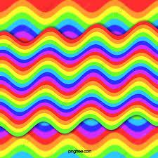 المموج قوس قزح عنصر الخلفية التوضيح متعدد الألوان قوس قزح هامش