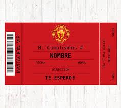 Manchester United Digital Printable Birthday Party Invitation