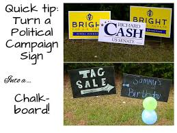 diy chalkboard from campaign signs