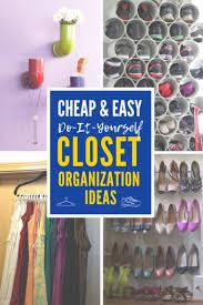 easy diy closet organization ideas