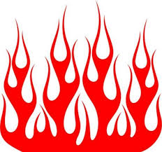 Vinyl Ghost Flames Graphics Hood Flame Car Window Vinyl Decal Custom Cherry Red For Sale Flame Art Flame Tattoos Skull Decal