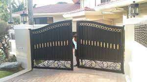 Entrance Gate Fabrication Cavitetrail Glass Railings Philippines Tempered Glass Wrought Iron Railings Gates Grills Metal Fabrication Curved Glass