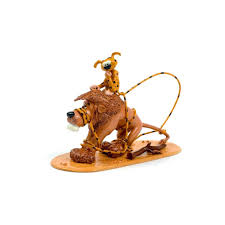 Figurines - The Marsupilami tying up the lion (ex. M.P.) by Pixi