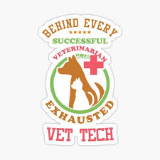 Vet Tech Stickers Redbubble