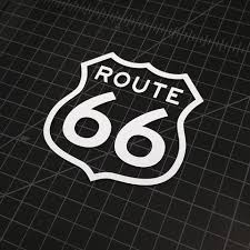 Route 66 Sign Vinyl Decal The Stickermart