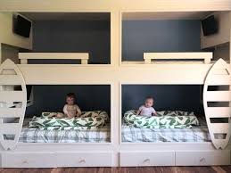 Easy Diy Removable Wall Mural In Boy S Bunk Room The Okie Home