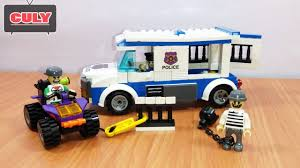 Lắp ráp LEGO Xe cảnh sát bắt cướp vượt ngục Brick Police Car catch ...