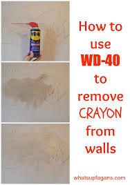 remove crayon from walls