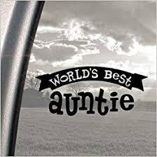 Amazon Com Worlds Best Auntie Black Decal Car Truck Window Sticker Books