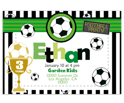 Football Birthday Invitation Vector Ilustration Soccer Boy