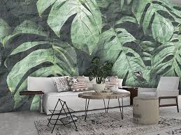 washable tropical wallpaper plant bio
