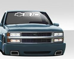 Fits S10 Chevy S 10 Windshield Window Decal Sticker Truck 26 Sun Strip Ebay