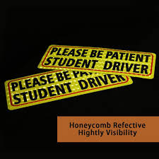 Please Be Patient Student Driver 3x Magnet Reflective Magnetic Vehicle Car Ushirika Coop