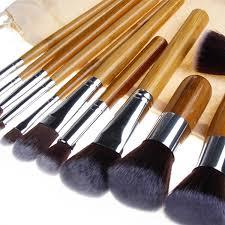professional bamboo makeup brush set