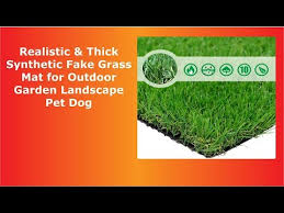thick synthetic fake grass mat