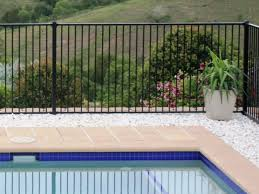 Black Aluminium Pool Fence Panel Extra Discounted