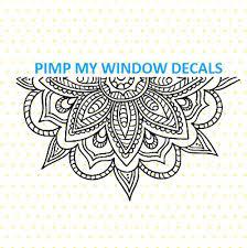 Mandala Split Multisurface Window Car Vinyl Decal 15 00 Picclick
