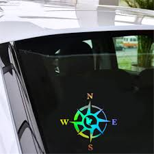 Rose Compass Funny Vinyl Decal Car Window Bumper Windscreen Auto Truck Stickers