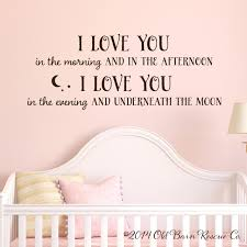 Children S Wall Art I Love You In The Morning Old Barn Rescue