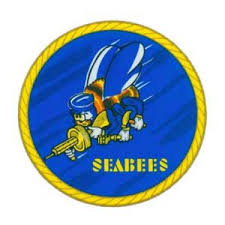 Navy Seabees Logo Outside Window Decal Flying Tigers Surplus