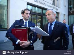Marcus Ball (left) outside Westminster Magistrates Court in London ...