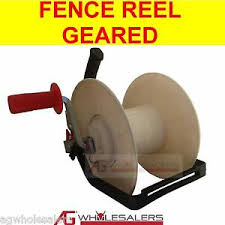 Wind Up Geared Electric Fence Reel For Wire Poly Wire Tape Strip Grazing Ebay