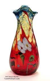 hand blown decorative art glass vases