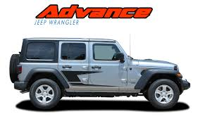 Jeep Wrangler Side Decals Jeep Wrangler Door Stripes Advance