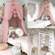 Ins Kids Room Bed Mosquito Net Chiffon Ball Hanging Tent Nets Accessories Hair Ball Wall Crib Netting Hanging Balls Crib Netting Aliexpress