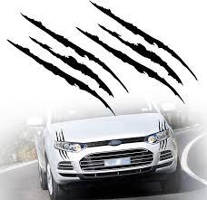 Amazon Com Tomall 2 Pcs Claw Marks Headlight Reflective Sticker Waterproof Scratch Car Sticker Monster Scratch Stripe Decal Car Sticker For Car Headlamp Engine Black Automotive
