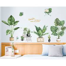 Green Potted Plant Wall Sticker