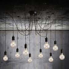 edison filament bulb vintage chandelier