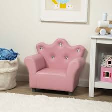 Child S Crown Armchair Pink Faux Leather Melissa And Doug