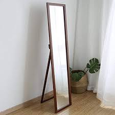 shangmeng simple wood floor mirror